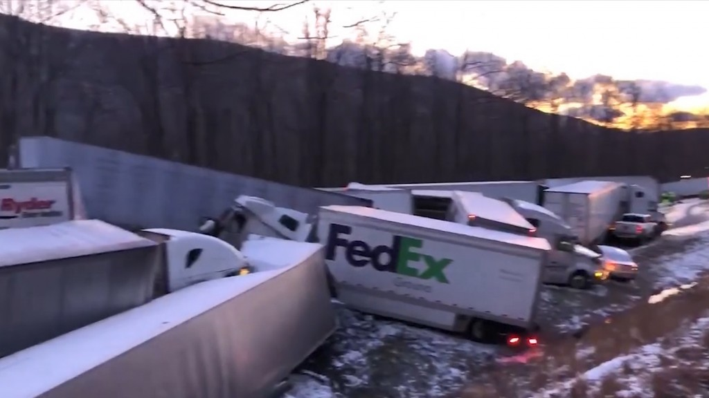 Sudden snow squall in Pennsylvania causes deadly pileup