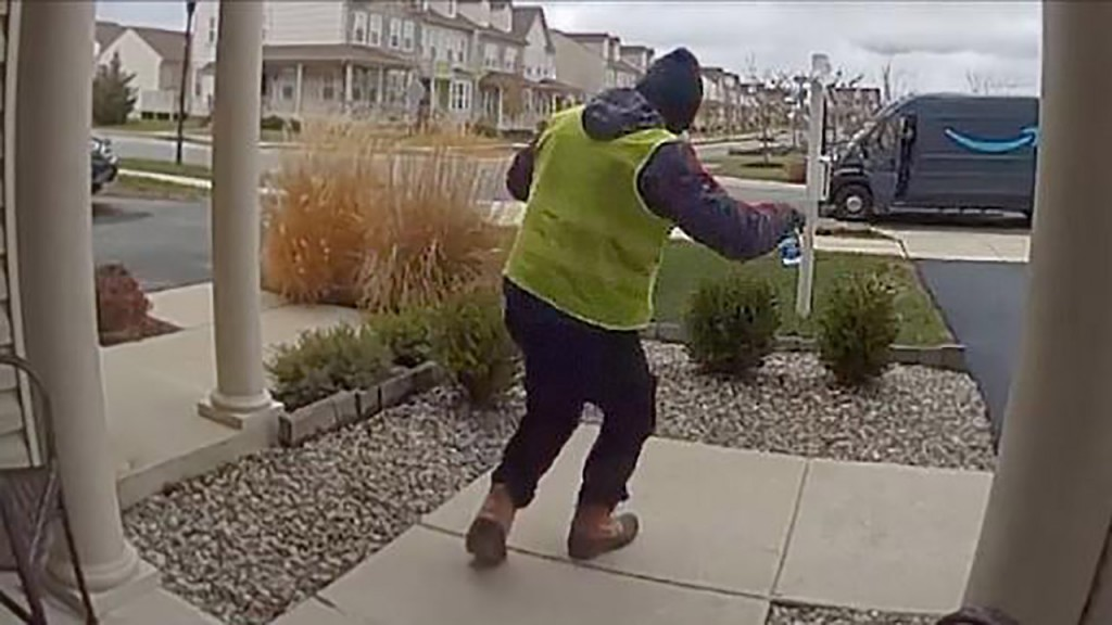 Delivery driver overjoyed at treats left on family's porch