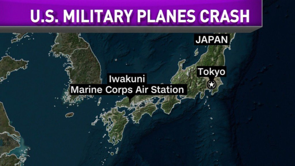 5 missing Marines declared dead in crash off Japan