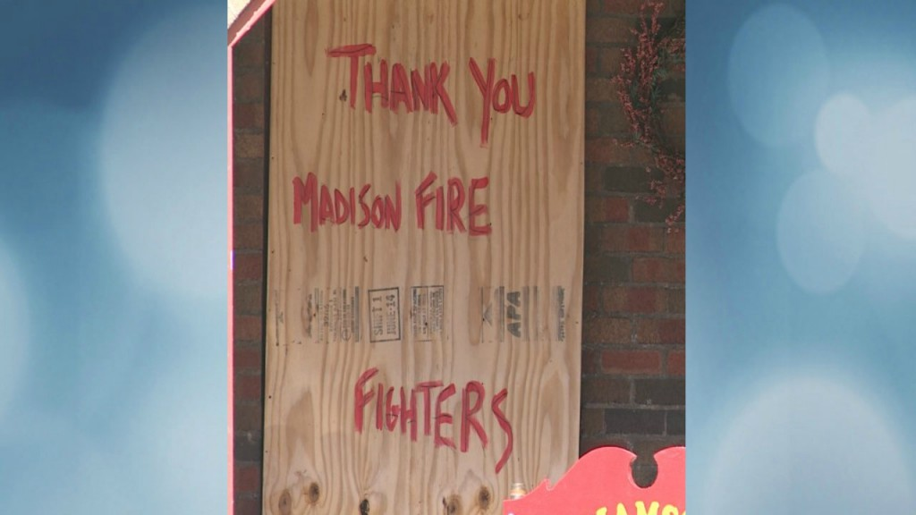 Art center founder finds message of thanks in fire
