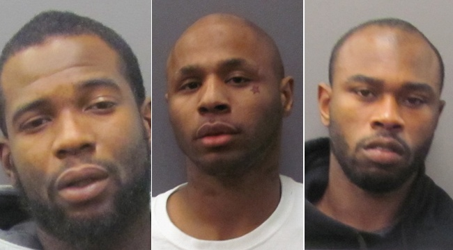 Three robbery suspects arrested following high-speed chase