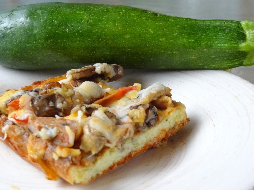 Donna's zucchini and cheese appetizer pizza squares