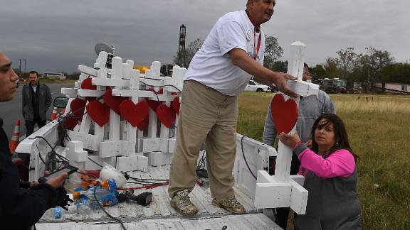 Man builds crosses for shooting victims across US