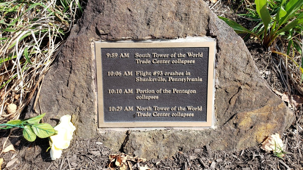 Thieves steal three 9/11 memorial plaques at New Jersey park