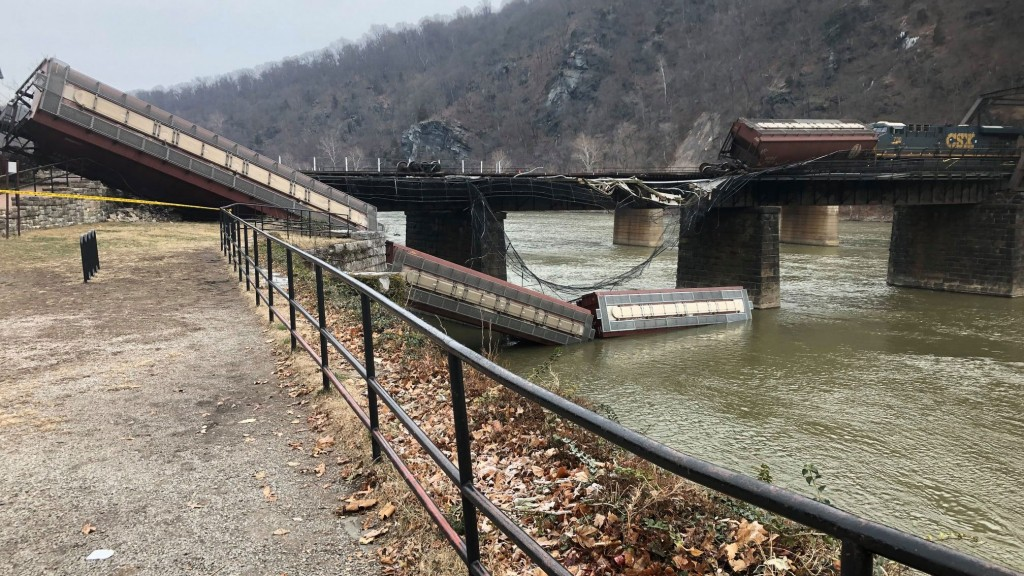 Maryland-bound train derails, two cars fall into Potomac River