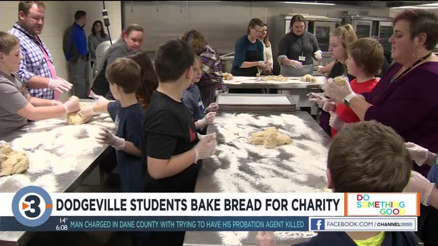 Dodgeville students bake bread for charity