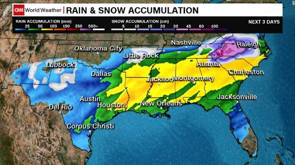 25 million in the South under winter weather alerts