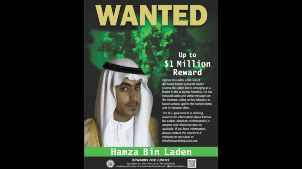 US will pay $1 million for information on Osama bin Laden's son