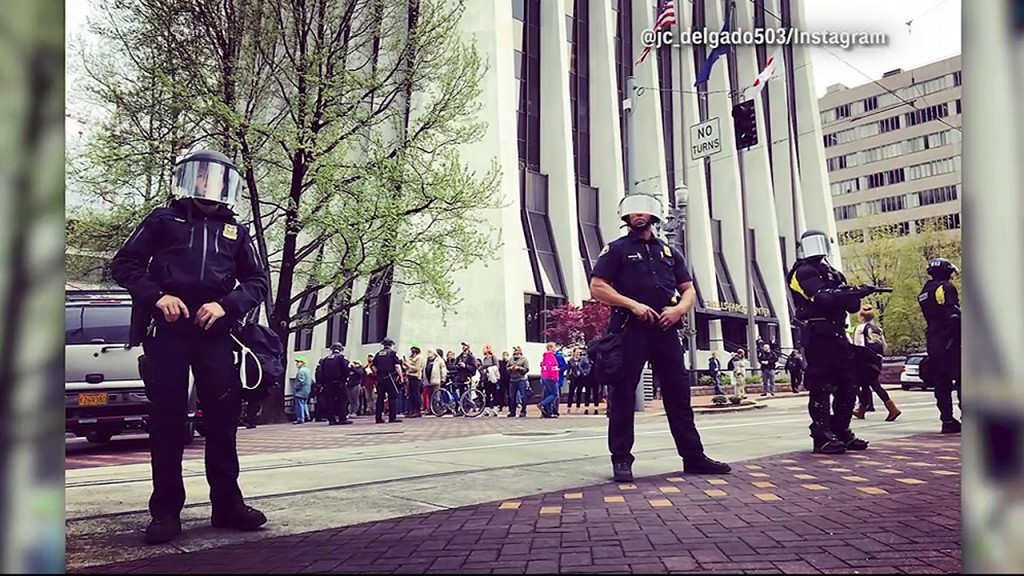 May Day turns violent in Portland