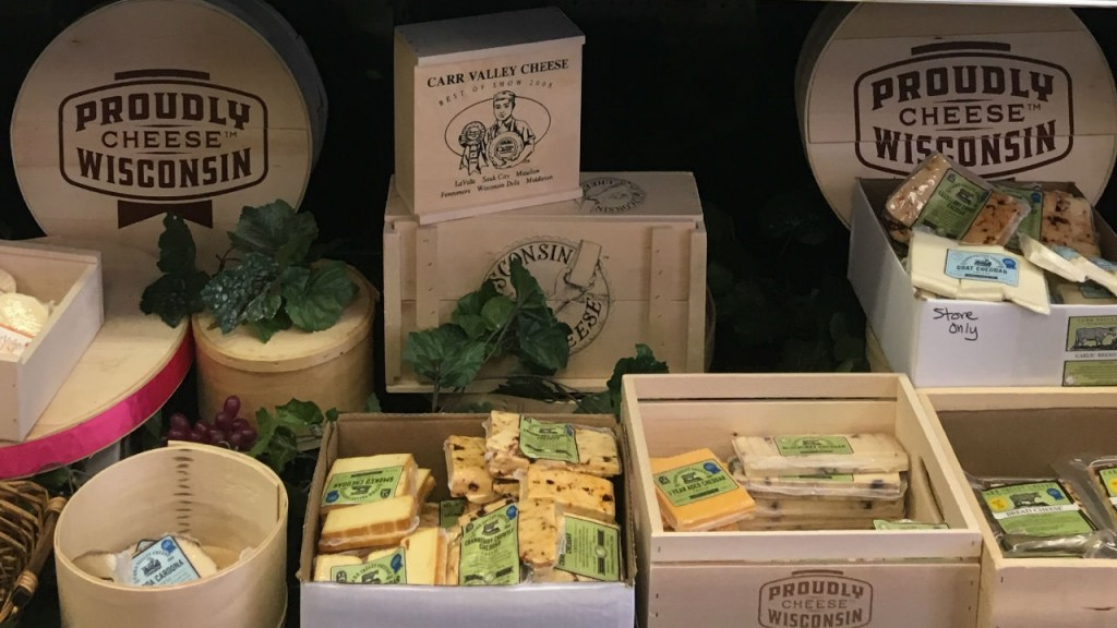 items in containers from Carr Valley cheese