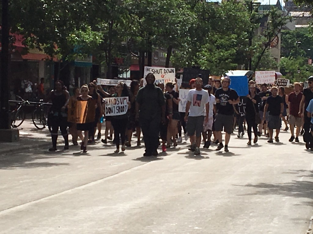 Hundreds gather for Black Lives Matter march