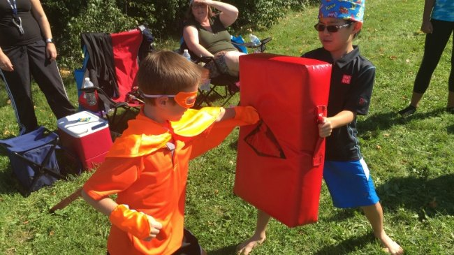 PHOTOS: Little superheroes learn super skills at training camp
