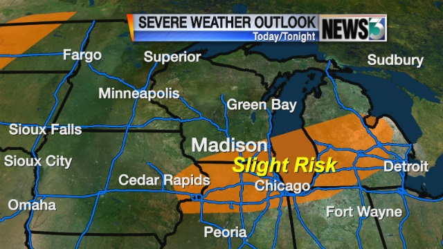 Chance of strong winds, hail threatens SE Wis.