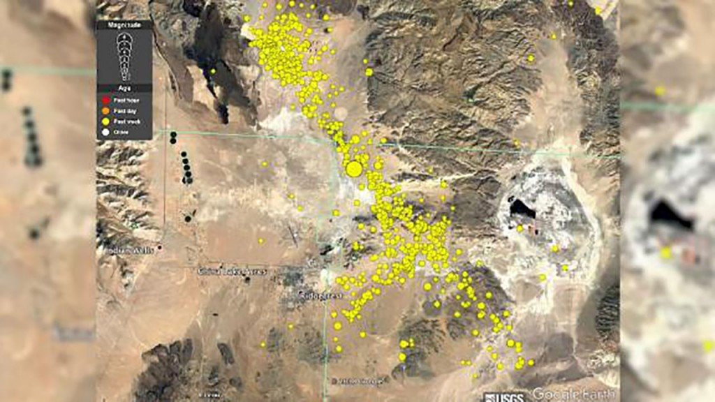 USGS animation shows thousands of earthquakes in the past week