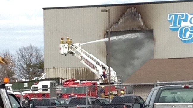 Fire ignites in construction debris at Lone Rock business