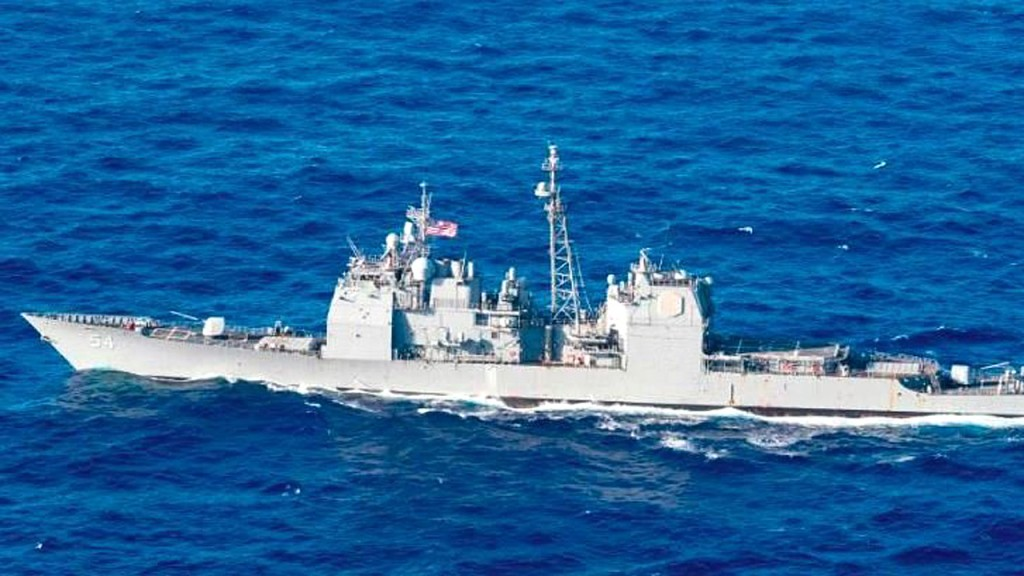 US Navy sails warship through contested Taiwan Straight