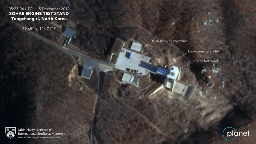 Satellite image shows activity at dismantled North Korean test site