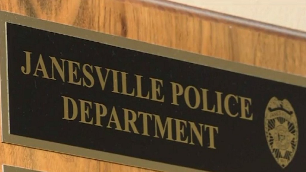 Janesville police department sign