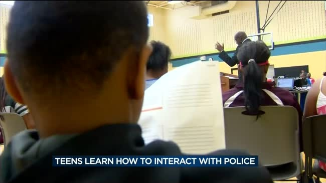 Community leaders teach teens how to interact with police