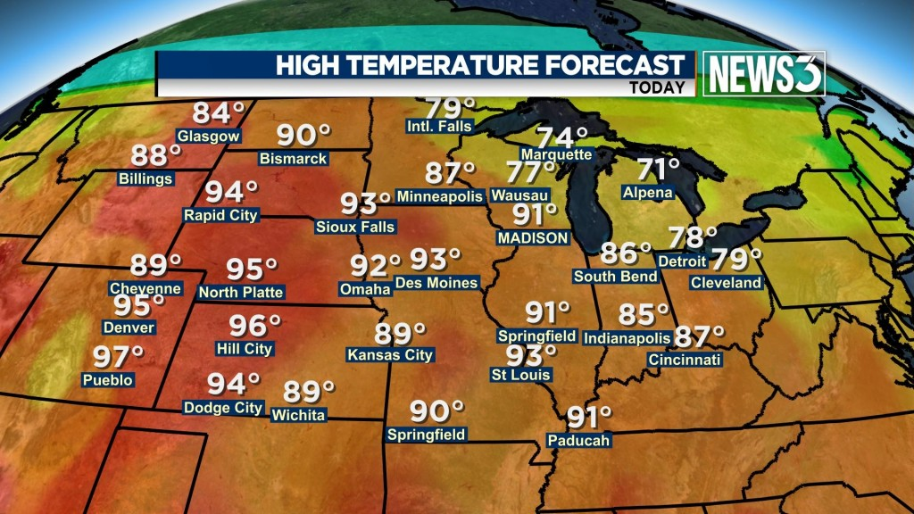 Hottest weather since last September to hit southern Wisconsin