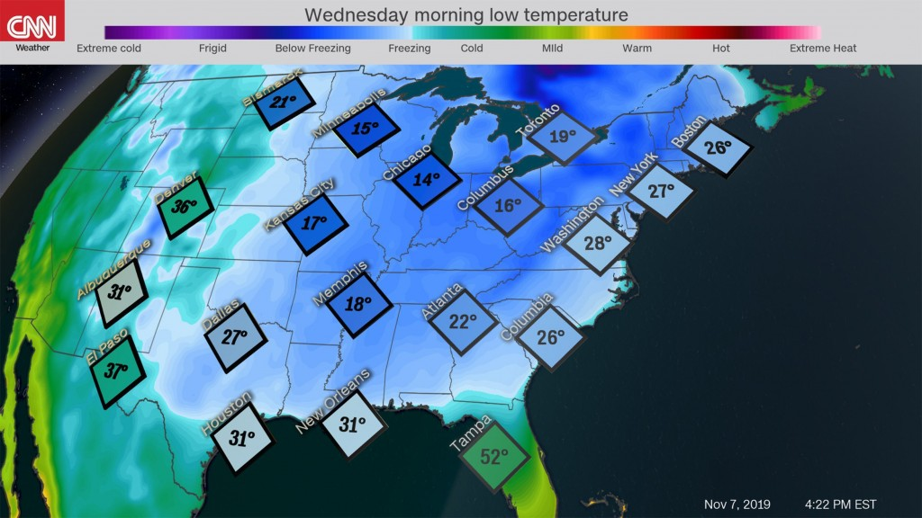 Arctic blast could bring record low temperatures to Eastern US