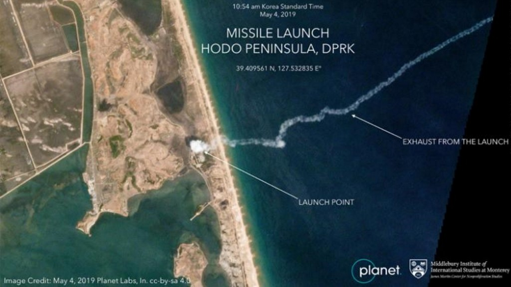 Images show North Korea missile launch as Pyongyang tests Trump