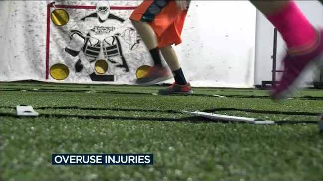 Young athletes facing 'overuse injuries'