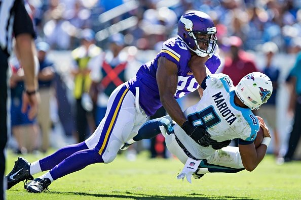 Vikings score 2 TDs off turnovers in beating Titans 25-16