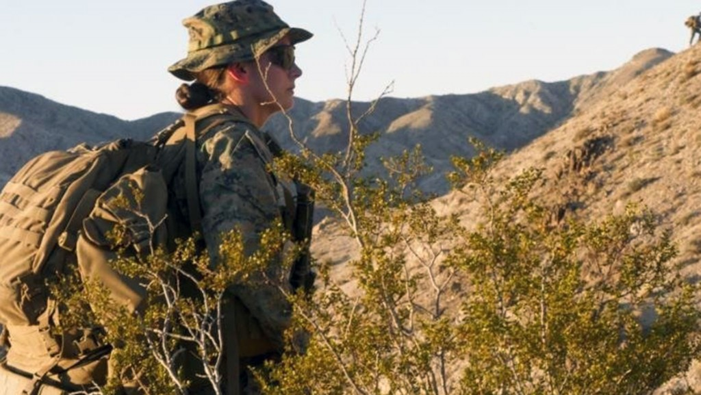 Trailblazing female Marine makes history