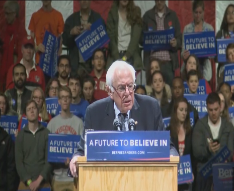 Sanders attacks Gov. Walker in Madison speech