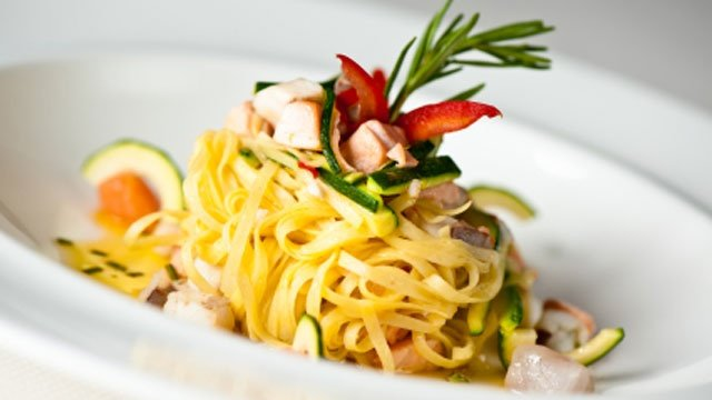 Noodles with toasted wheat germ