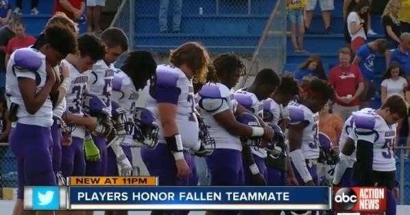 Florida team honors football player hit, killed by van on way to school