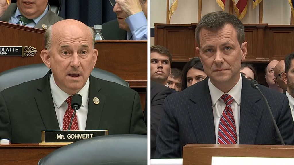 Gohmert asks Peter Strzok how he looked into his 'wife's eye' during affair