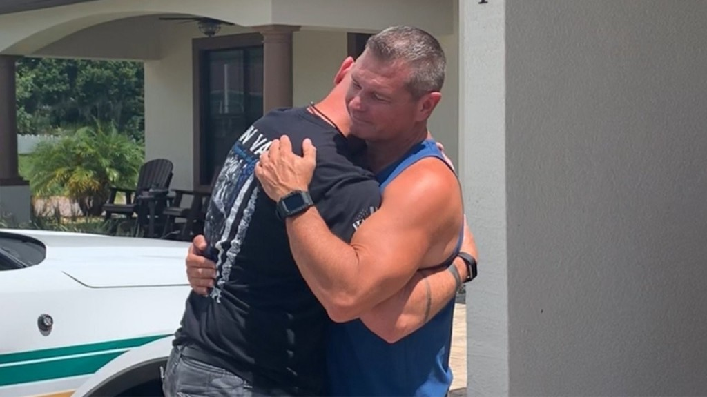 Florida police officer finds long-lost half brother