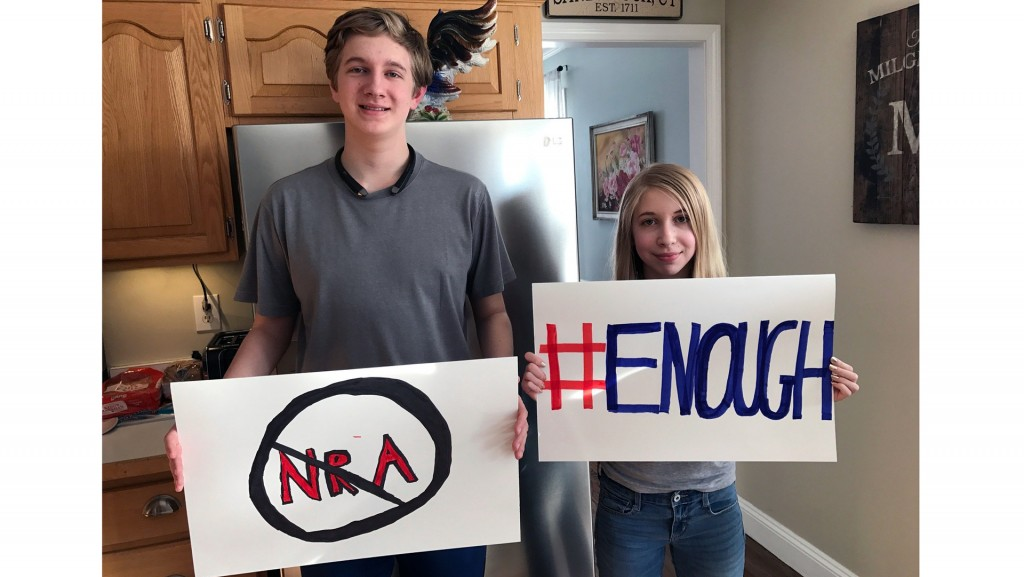 Sandy Hook survivor joins Parkland students to say 'Enough'