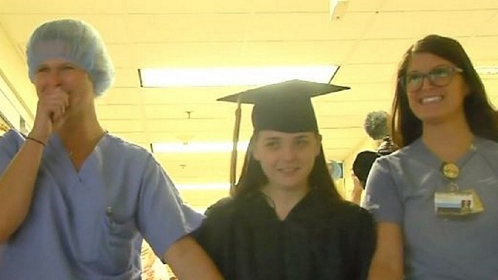 Mother unable to leave hospital sees daughter graduate