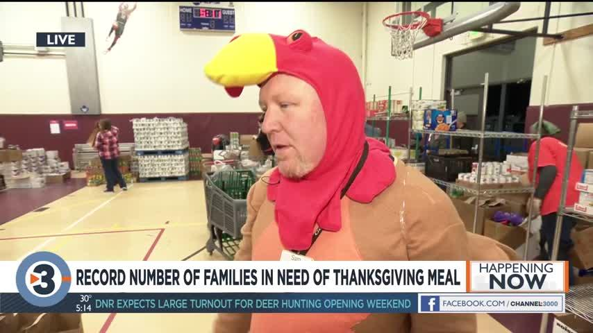 Record number of families in need of Thanksgiving meal