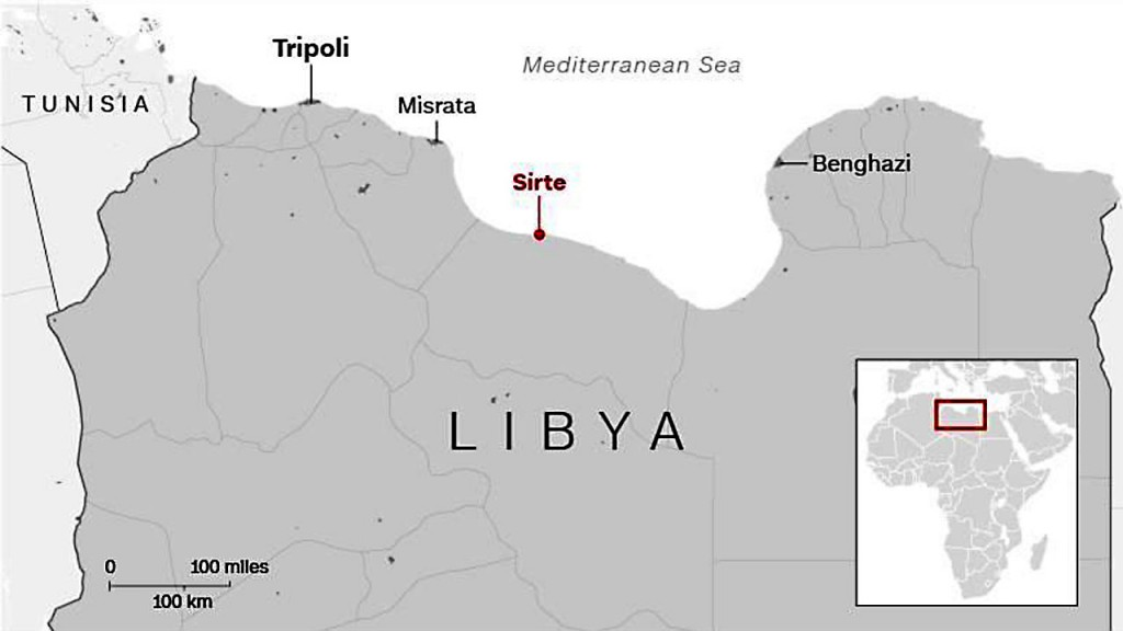 US Navy rescues migrants at sea off the coast of Libya