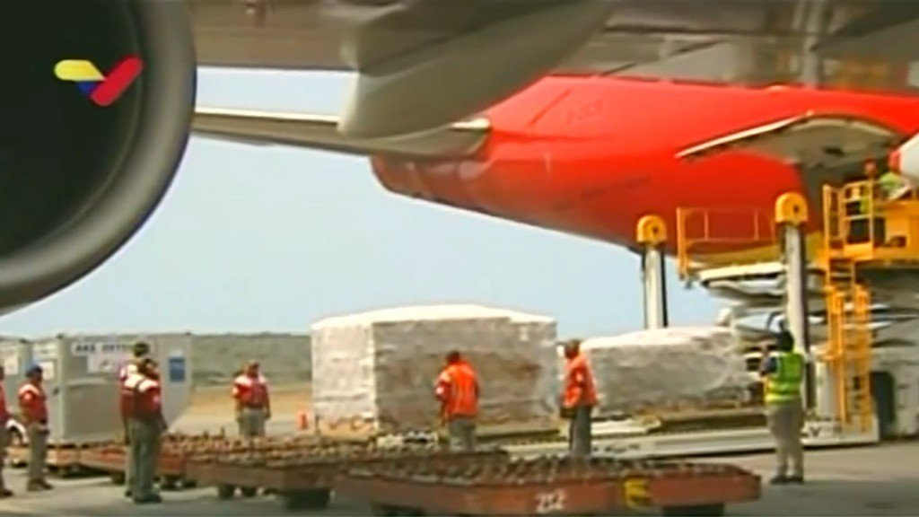 Chinese cargo plane arrives in Venezuela