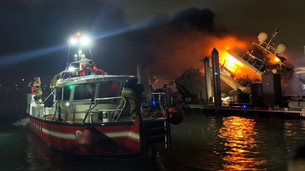 Singer Marc Anthony's yacht destroyed by fire in Miami