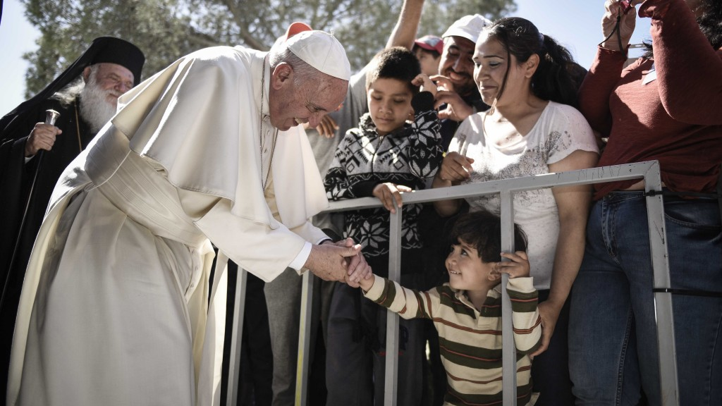 Pope says helping the poor, migrants as important as opposing abortion
