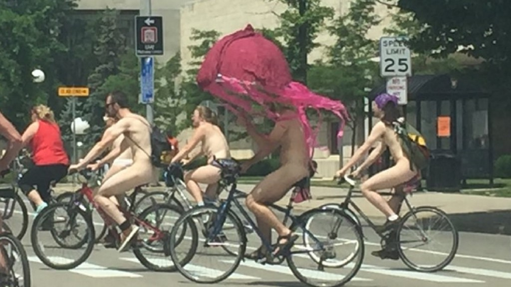 'Naked Bike Ride' bicyclists spotted in downtown Madison