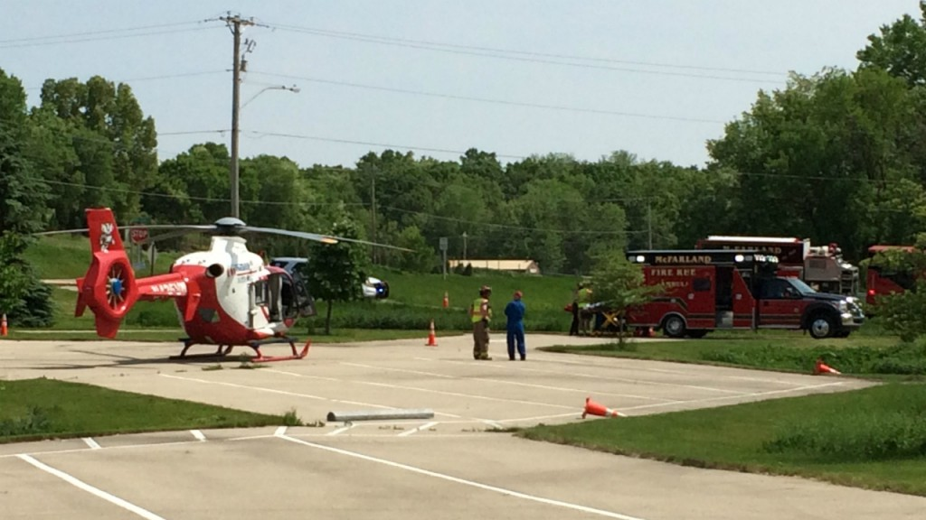 Med Flight transports man hurt in lawn mower rollover, officials say