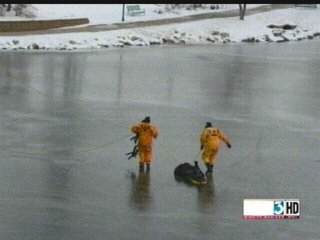 Law enforcement officers complete dangerous ice rescue in Dodge Co.