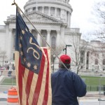 People gathering outside the Capitol