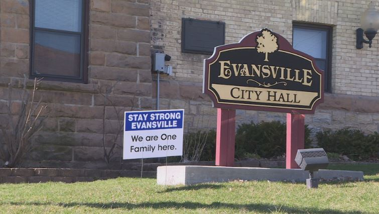 Sign outside city hall