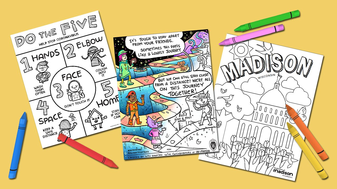 6 Free Madison Made Coloring Sheet Sets To Keep The Kids Busy