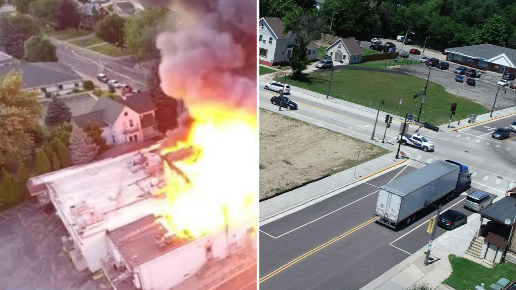 PHOTOS: Side-by-side photos show what #SunPrairieStronger means at Main Street explosion site