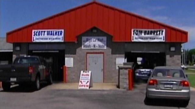 Car wash customers choose between Walker, Barrett