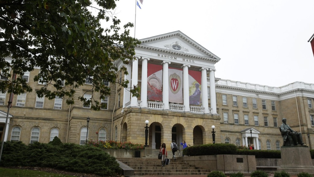 A photo of Bascom Hall at UW Madison